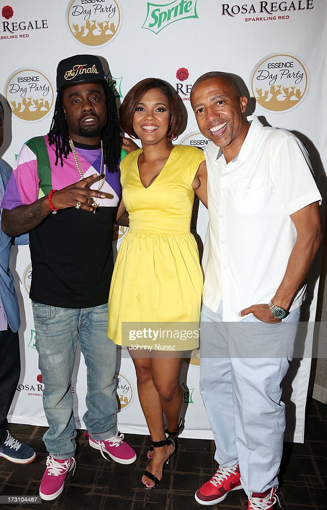 Wale, Cori Murray, and <a gi-track='captionPersonalityLinkClicked' href=/galleries/search?phrase=Kevin+Liles&family=editorial&specificpeople=236082 ng-click='$event.stopPropagation()'>Kevin Liles</a> attend the Essence Day party at the W New Orleans on July 6, 2013 in New Orleans, Louisiana.