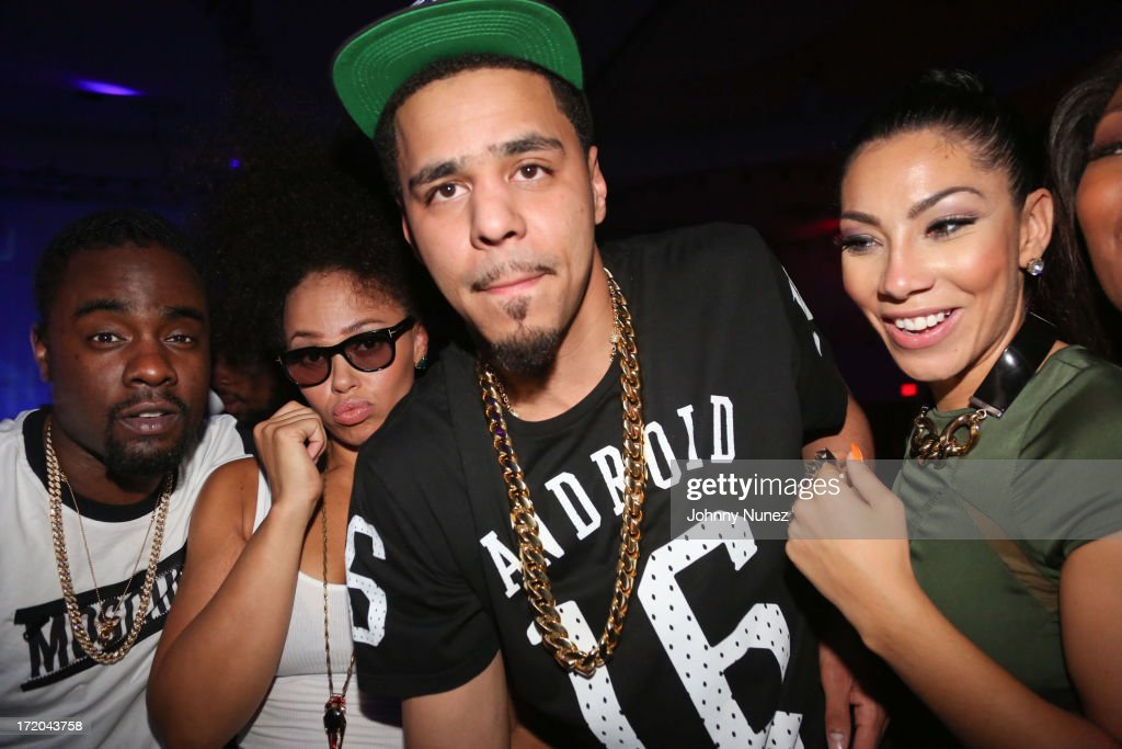 Wale Elle Varner J Cole and Bridget Kelly attend BET Post Party at SupperClub Los Angeles on June 30 2013 in Los Angeles California