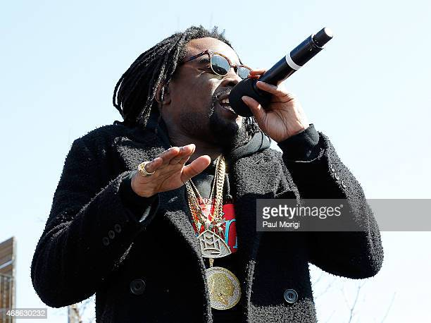 Wale performs at Events DC presents 'Wale A Concert About Nothing' on April 4 2015 in Washington DC