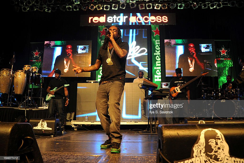 Wale performs at Heineken Red Star Access Philadelphia featuring Nas Wale and QTip at The Electric Factory on October 13 2012 in Philadelphia...