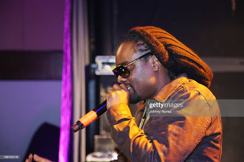 Wale performs at the Bowery Ballroom on January 7, 2013 in New York City.