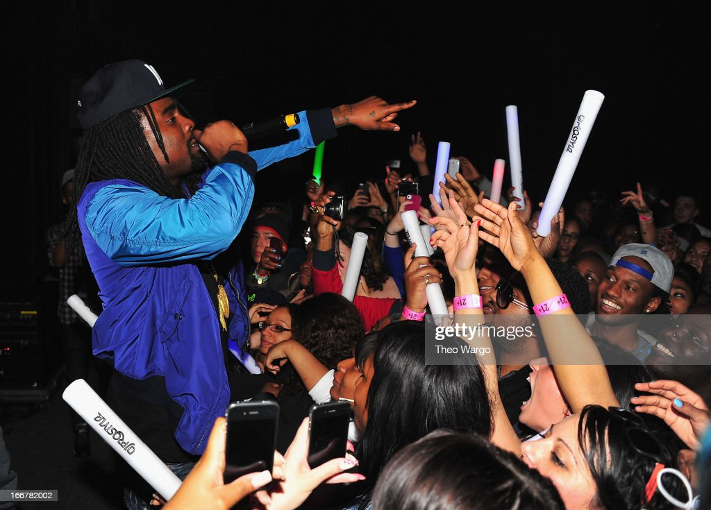 <a gi-track='captionPersonalityLinkClicked' href=/galleries/search?phrase=Wale+-+Rapper&family=editorial&specificpeople=8770277 ng-click='$event.stopPropagation()'>Wale</a> performs during DJ ProStyle's birthday bash at Hammerstein Ballroom on April 16, 2013 in New York City.