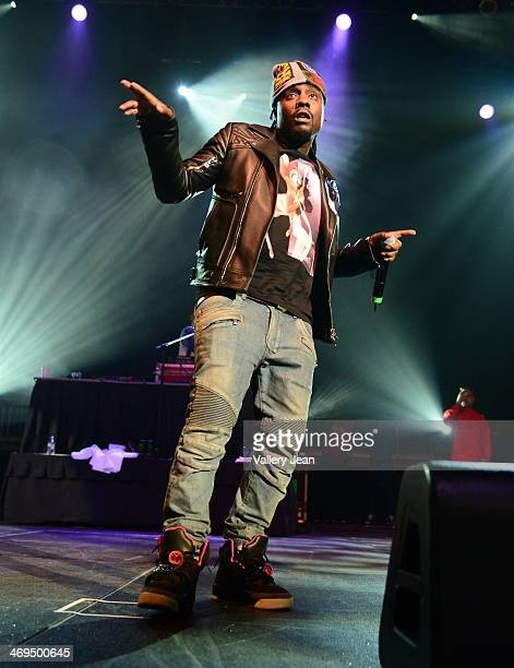Wale performs during valentines day at Bank United Center on February 14 2014 in Miami Florida