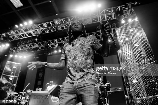 Wale performs onstage at the BETX On The Road DMV Concert at The Fillmore Silver Spring on July 26 2017 in Silver Spring Maryland