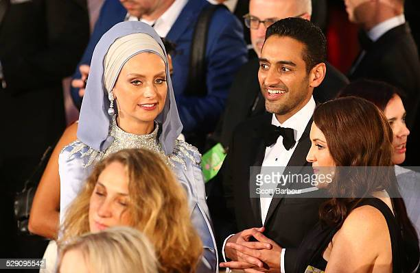 Waleed Aly and Susan Carland arrive at the 58th Annual Logie Awards at Crown Palladium on May 8 2016 in Melbourne Australia