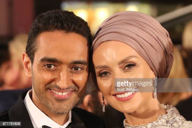 Waleed Aly and Susan Carland arrive at the 59th Annual Logie Awards at Crown Palladium on April 23 2017 in Melbourne Australia
