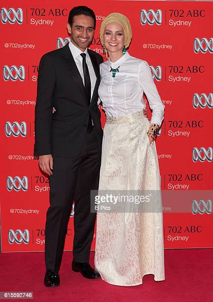Waleed Aly and wife Susan Carland attends the 2016 Andrew Olle Media Lecture on October 14 2016 in Sydney Australia