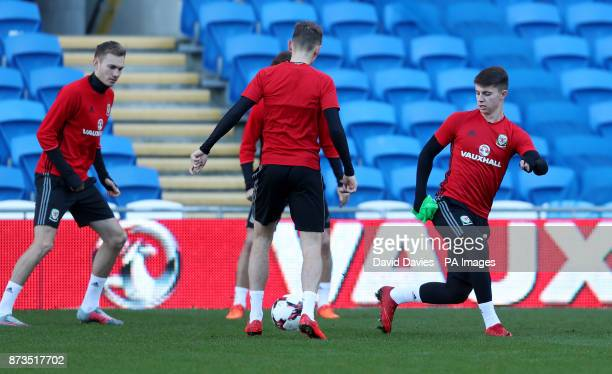 Wales' Ben Woodburn during a training session at the Cardiff City Stadium Cardiff