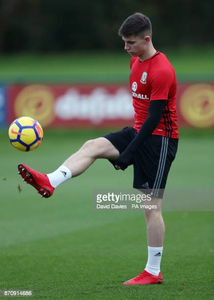 Wales' Ben Woodburn during the training session at the Vale Resort Hensol