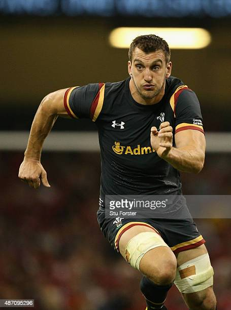 Wales captain Sam Warburton in action during the International match between Wales and Ireland at Millennium Stadium on September 5 2015 in Cardiff...