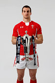 Wales captain Sam Warburton poses with the Six Nations trophy during the RBS Six Nations launch at The Hurlingham Club on January 23 2013 in London...