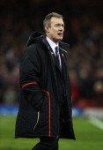 Wales caretaker coach Rob Howley looks on prior to the RBS Six Nations match between Wales and England at Millennium Stadium on March 16 2013 in...