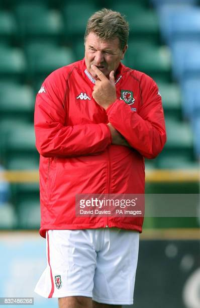 Wales Coach John Toshack during a training session at Jenner Park Barry