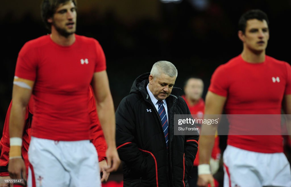 Wales coach Warren Gatland looks on before the International match between Australia and Wales at Millennium Stadium on December 1, 2012 in Cardiff, Wales.