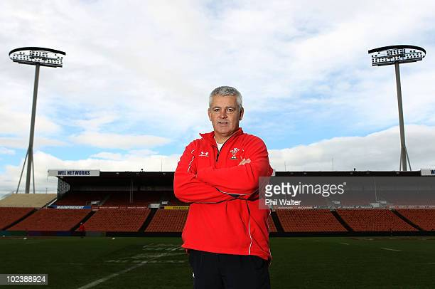 Wales coach Warren Gatland pictured following the Wales Captain's Run at Waikato Stadium on June 25 2010 in Hamilton New Zealand