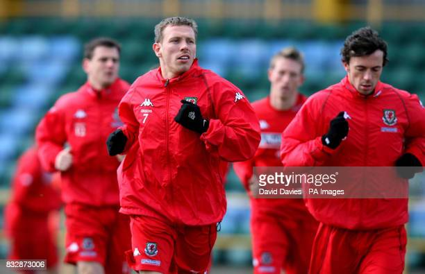 Wales' Craig Bellamy during a training session at Jenner Park Barry