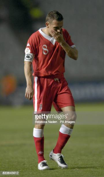Wales Craig Bellamy during the UEFA European Championship Qualifying match at Neo GSP Stadium Nicosia Cyprus Picture date Saturday October 13 2007...