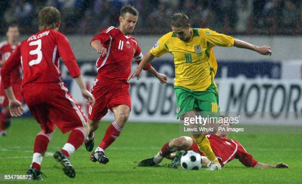 Wales' David Edwards in action during the World Cup Qualifying match at the Lokomotiv Stadium Moscow Russia