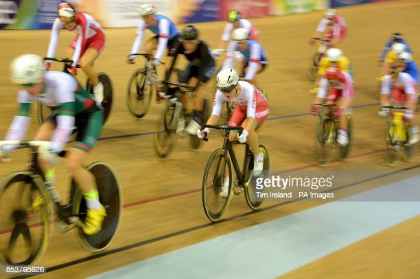 Wales' Elinor Barker rides to silver in the 25km points race at the Sir Chris Hoy Velodrome during the 2014 Commonwealth Games in Glasgow