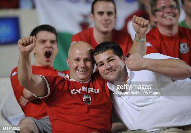 Wales fans during the UEFA European Championship Qualifying match at Neo GSP Stadium Nicosia Cyprus Picture date Saturday October 13 2007 See PA...