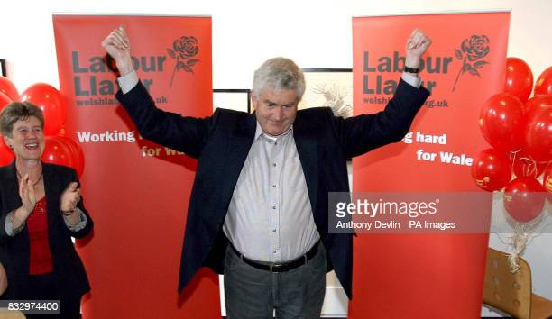 Wales' First Minister Rhodri Morgan gives a short speech to party members at the Chapter Arts Centre in Cardiff following last nights Assembly and...