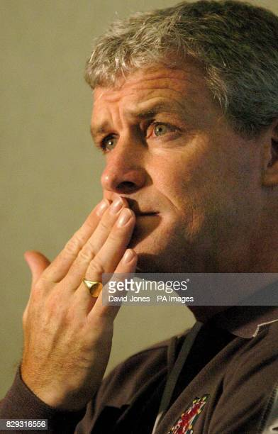Wales' football manager Mark Hughes during a press conference at a Cardiff Hotel His team play Northern Ireland at the Millennium Stadium tomorrow...