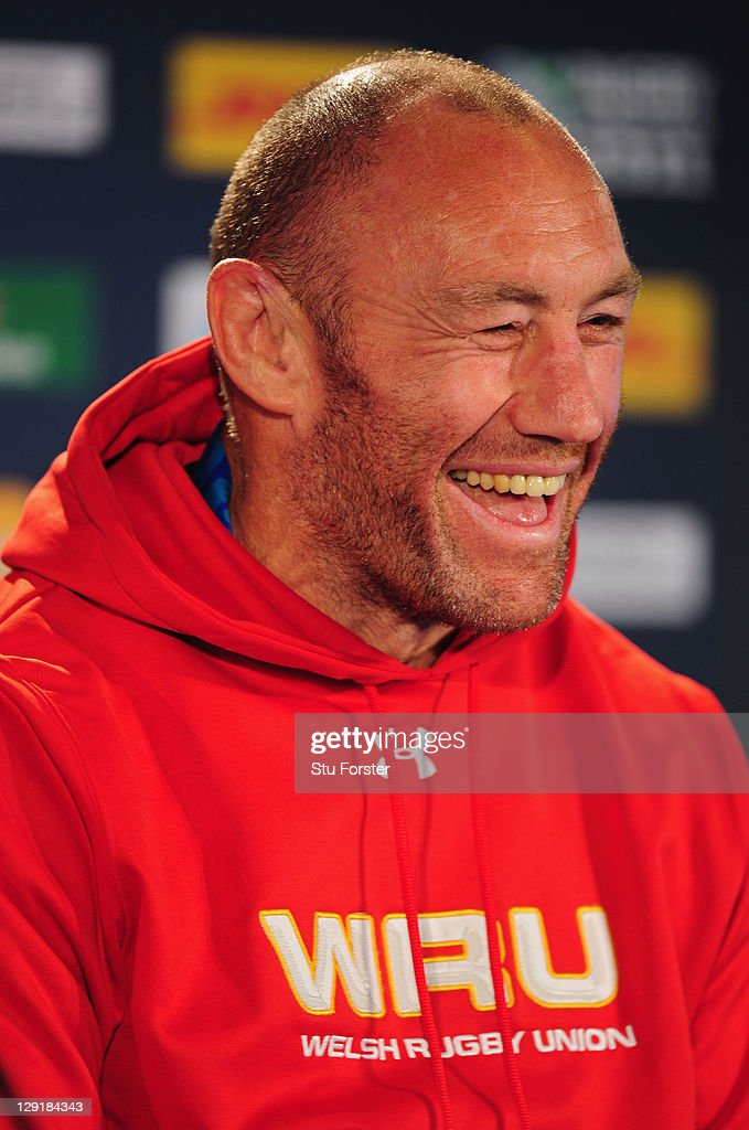 Wales forwards coach Robin McBryde speaks at a press conference during a Wales IRB Rugby World Cup 2011 captain's run at Eden Park on October 14, 2011 in Auckland, New Zealand.