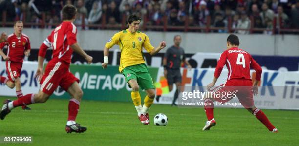 Wales' Gareth Bale in action during the World Cup Qualifying match at the Lokomotiv Stadium Moscow Russia