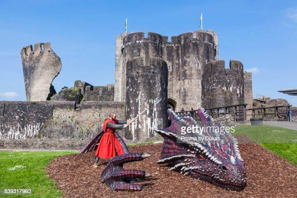 Wales Glamorgon Caerphilly Caerphilly Castle