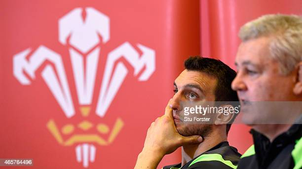 Wales head coach Warren Gatland and captain Sam Warburton face the media during the team announcement ahead of saturday's RBS Six Nations match...