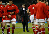 Wales interim coach Rob Howley looks on prior to the international match between Wales and Samoa at the Millennium Stadium on November 16 2012 in...