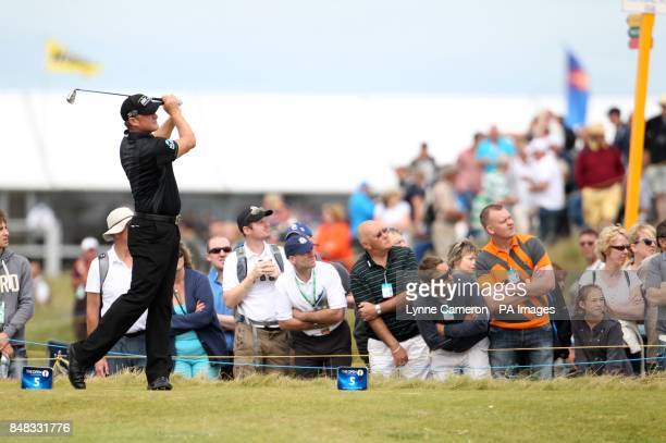 Wales' Jaime Donaldson tees off the 5th during day four of the 2012 Open Championship at Royal Lytham St Annes Golf Club Lytham St Annes