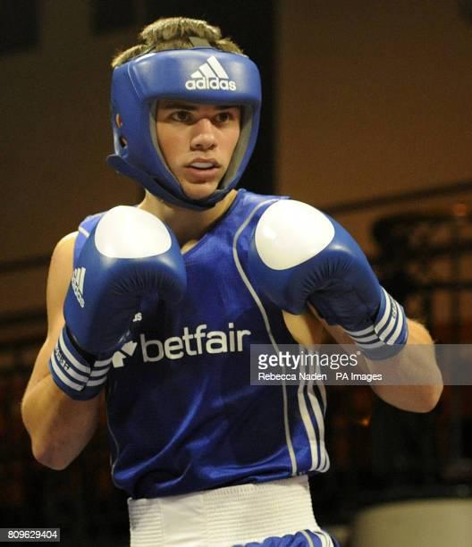 Wales' Joe Cordina during the British Amateur Championships at York Hall London