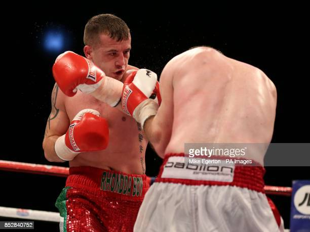 Wales' Lewis Rees in action against Kvzysztof Szot in action against South African Vusi Malinga at the First Direct Arena Leeds
