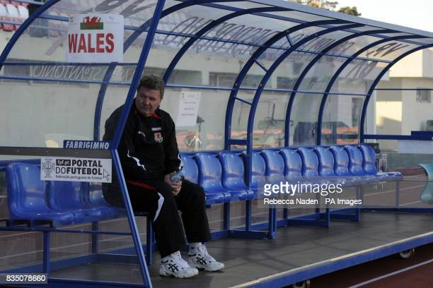 Wales manager John Toshack during the International Friendly at the Vila Real De Santo Antonio Sports Complex Portugal