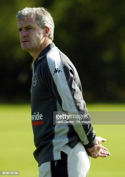 Wales manager Mark Hughes during training at the University of Glamorgan playing fields ahead of Wedneday night's World Cup Qualifier against...