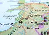Map of Wales, England.