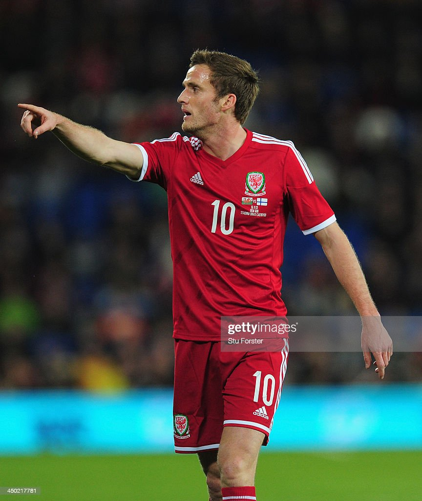 Wales player Andy King in action during the International Friendly match between Wales and Finland at Cardiff City Stadium on November 16, 2013 in Cardiff, Wales.