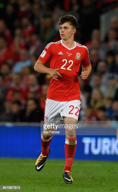 Wales player Ben Woodburn in action during the FIFA 2018 World Cup Qualifier between Wales and Austria at Cardiff City Stadium on September 2 2017 in...