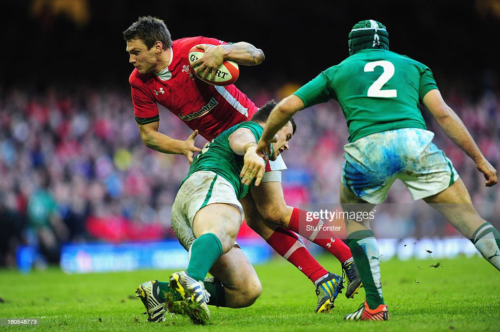 Wales player <a gi-track='captionPersonalityLinkClicked' href=/galleries/search?phrase=Dan+Biggar&family=editorial&specificpeople=5607224 ng-click='$event.stopPropagation()'>Dan Biggar</a> in action during the RBS Six Nations game between Wales and Ireland at the Millennium Stadium in Cardiff, Wales.