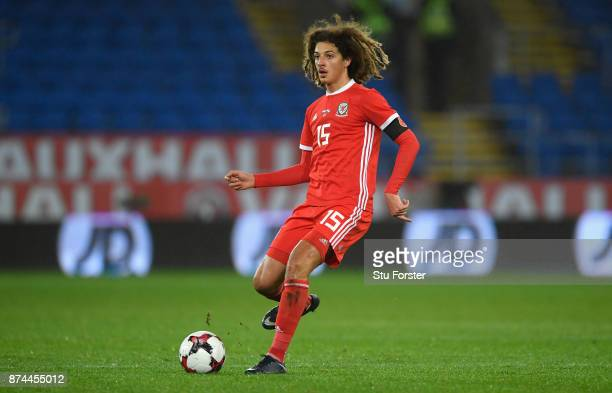Wales player Ethan Ampadu in action during the International Friendly match between Wales and Panama at Cardiff City Stadium on November 14 2017 in...