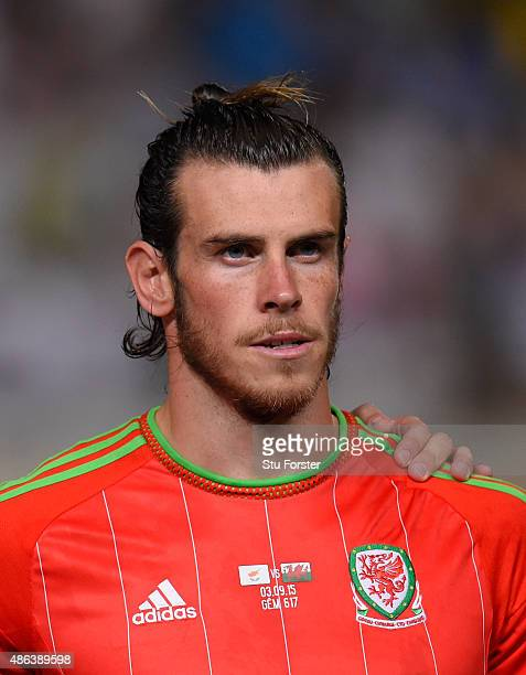 Wales player Gareth Bale pictured before the UEFA EURO 2016 Qualifier between Cyprus and Wales at GPS Stadium on September 3 2015 in Nicosia Cyprus