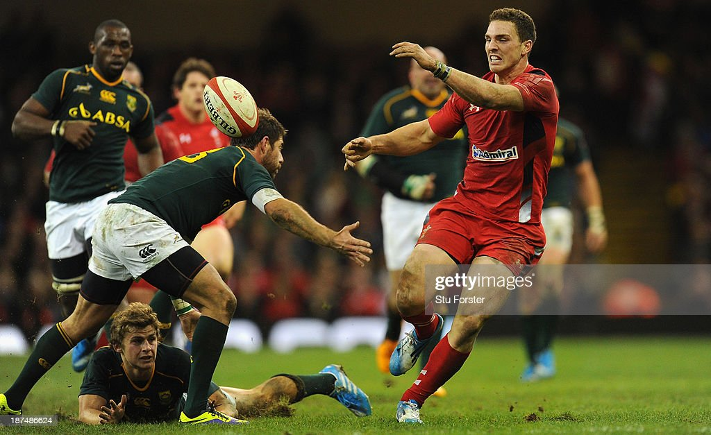 Wales player <a gi-track='captionPersonalityLinkClicked' href=/galleries/search?phrase=George+North&family=editorial&specificpeople=7320853 ng-click='$event.stopPropagation()'>George North</a> reacts during the International Match between Wales and South Africa at the Millennium Stadium on November 9, 2013 in Cardiff, Wales.