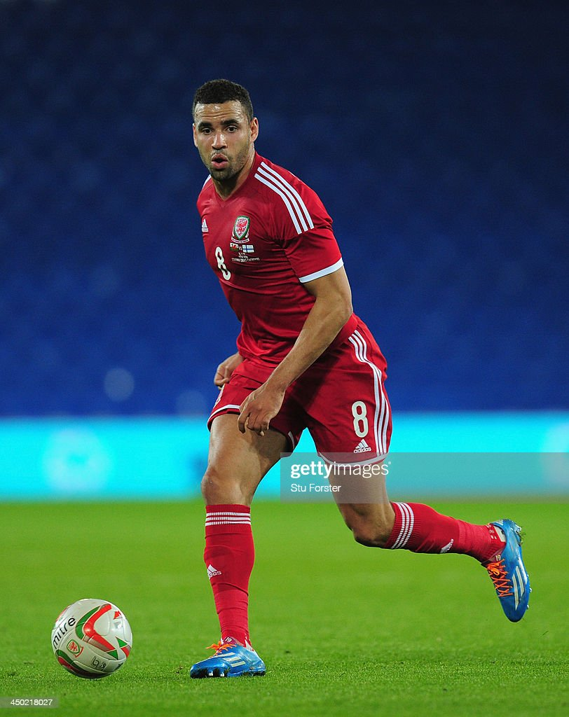 Wales player Hal Robson Kanu in action during the International Friendly match between Wales and Finland at Cardiff City Stadium on November 16, 2013 in Cardiff, Wales.