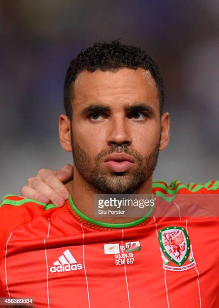 Wales player Hal RobsonKanu pictured before the UEFA EURO 2016 Qualifier between Cyprus and Wales at GPS Stadium on September 3 2015 in Nicosia Cyprus