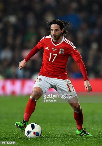 Wales player Joe Allen in action during the International friendly match between Wales and Northern Ireland at Cardiff City Stadium on March 24 2016...