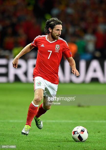 Wales player Joe Allen in action during the UEFA Euro 2016 Quarter Final match between Wales and Belguim at Stade PierreMauroy on July 1 2016 in...