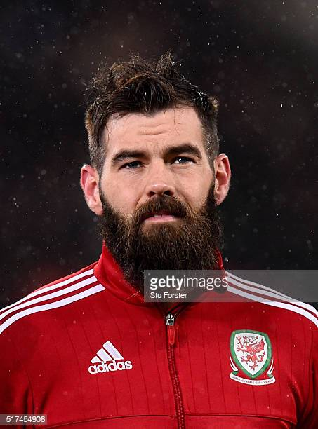 Wales player Joe Ledley looks on before the International friendly match between Wales and Northern Ireland at Cardiff City Stadium on March 24 2016...