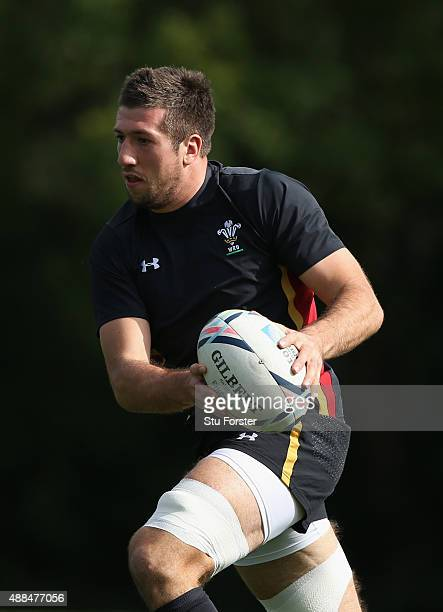 Wales player Justin Tipuric in action during a Wales training session at the Vale hotel on September 16 2015 in Cardiff United Kingdom