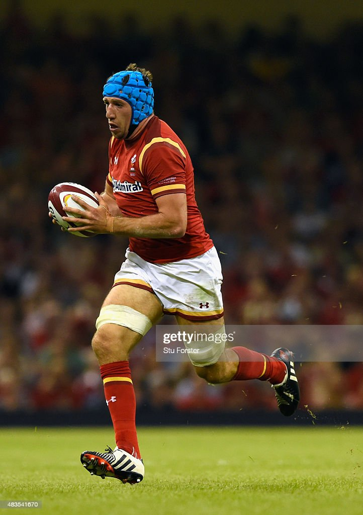 Wales player Justin Tipuric in action during the Rugby World Cup warm up match between Wales and Ireland at Millennium Stadium on August 8 2015 in...